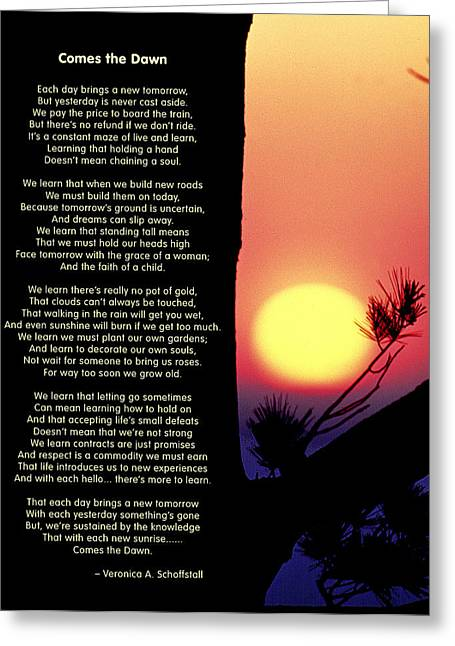 Empowerment Greeting Cards - Comes the Dawn Greeting Card by Mike Flynn