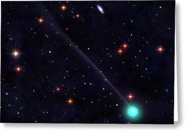 Comet Encke Greeting Card by Damian Peach
