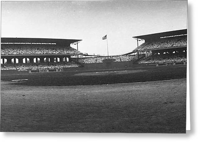 Baseball Stadiums Greeting Cards - Comiskey Park Greeting Card by Retro Images Archive