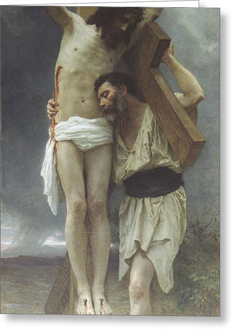 Jesus Christ Images Digital Art Greeting Cards - Compassion Greeting Card by William Bouguereau