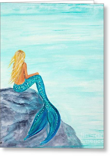 Recently Sold -  - Ocean Art. Beach Decor Greeting Cards - Complete Peace Greeting Card by Leslie Allen