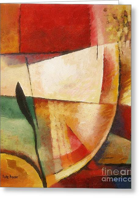 Abstract Series Greeting Cards - Composition Greeting Card by Lutz Baar
