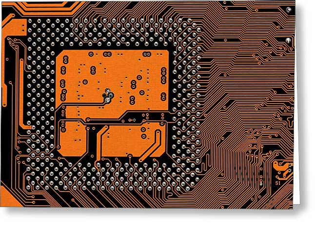 Computer Motherboard Greeting Card by Antonio Romero