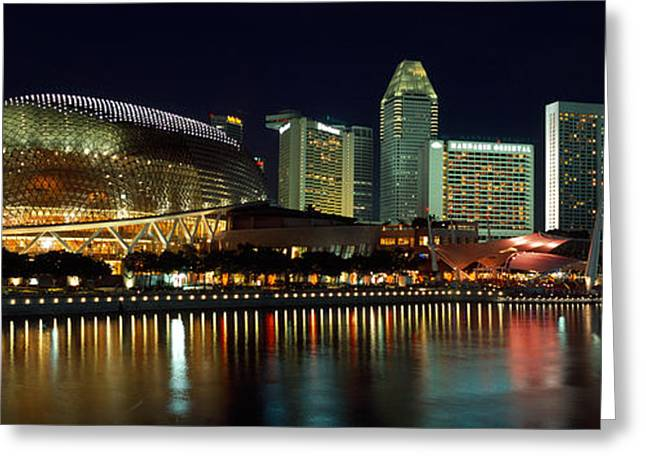 Arts Culture And Entertainment Greeting Cards - Concert Hall At The Waterfront Greeting Card by Panoramic Images