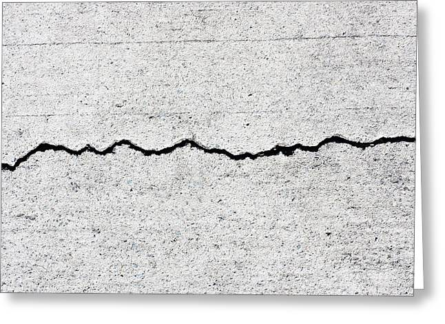 Occurrence Greeting Cards - Concrete Cracks Greeting Card by Ryan Jorgensen