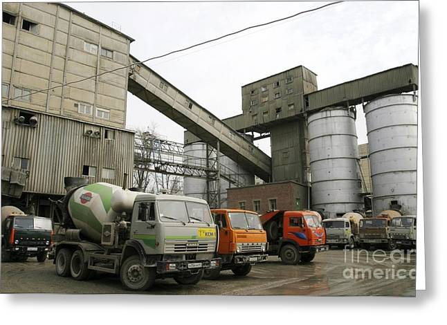 Production Industry Greeting Cards - Concrete Manufacture Greeting Card by RIA Novosti