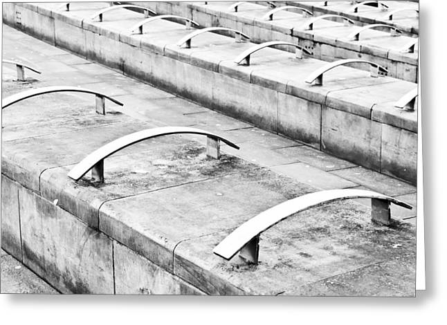 Stepping Stones Greeting Cards - Concrete seating Greeting Card by Tom Gowanlock