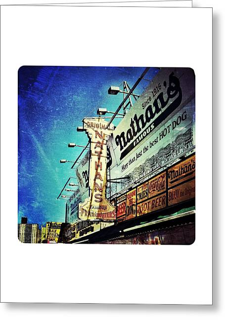 Coney Island Grub Greeting Card by Natasha Marco