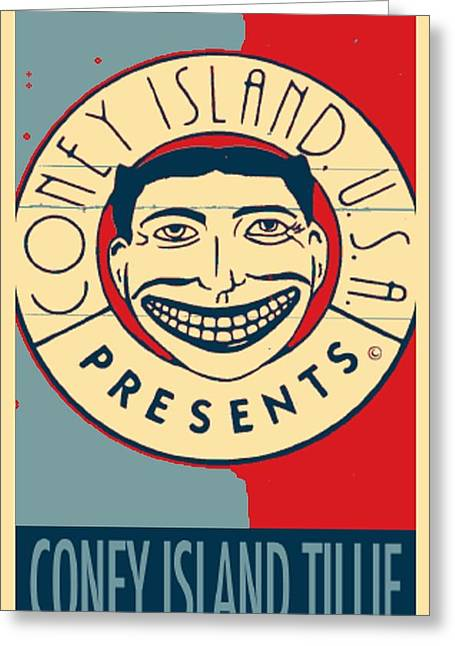 Shepard Fairey Greeting Cards - CONEY ISLAND TILLIE in HOPE Greeting Card by Rob Hans