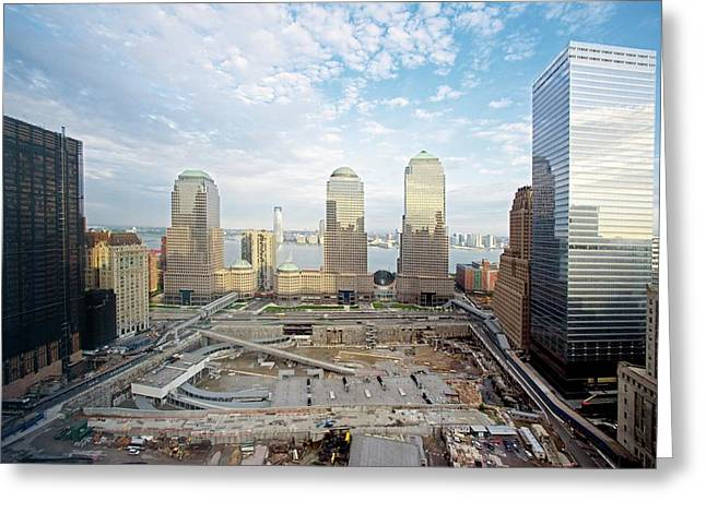 Construction At The Twin Towers Site Greeting Card by Library Of Congress