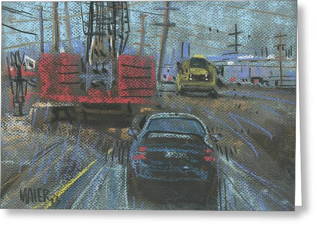 Equipment Drawings Greeting Cards - Construction Site Greeting Card by Donald Maier