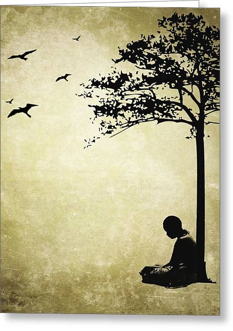 York Beach Greeting Cards - Contemplation Greeting Card by Natasha Marco