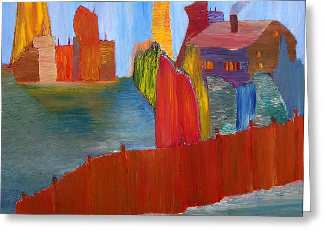 Spring Floods Paintings Greeting Cards - Contrasts Greeting Card by Vadim Levin