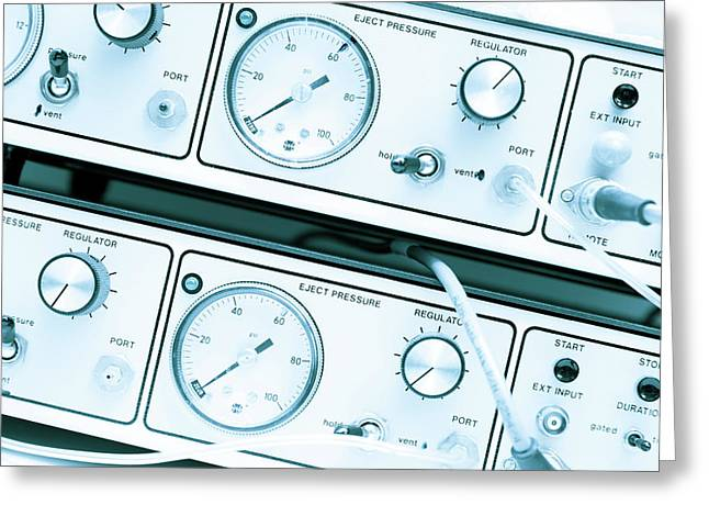 Control Panel With Dials Greeting Card by Wladimir Bulgar