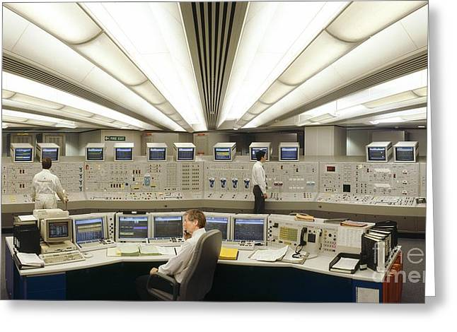 Coolant Greeting Cards - Control Room, Sizewell B Power Station Greeting Card by David Parker