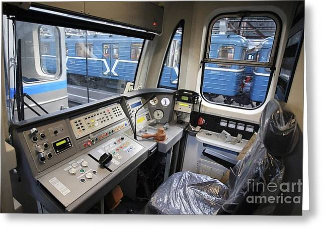 Upgrading Greeting Cards - Controls Of A Metro Train In Russia Greeting Card by RIA Novosti