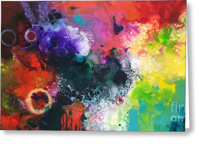 Abstract Greeting Cards - Convergence Greeting Card by Sally Trace