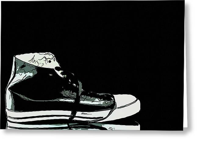 Converse sports shoes Greeting Card by Toppart Sweden