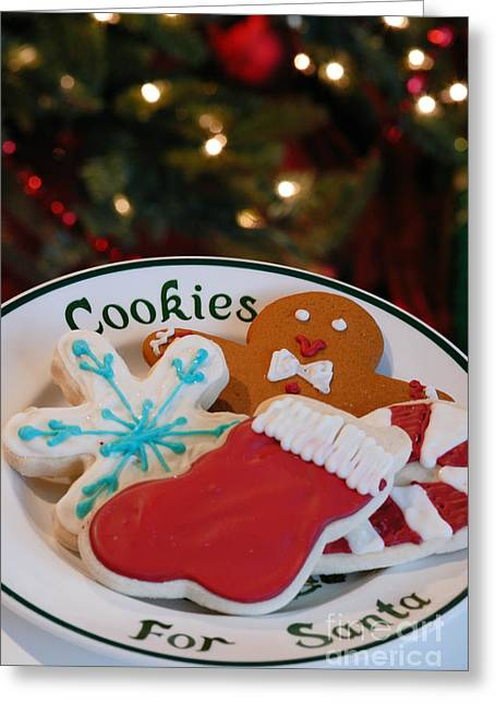 Wrapped Greeting Cards - Cookies for Santa  Greeting Card by Amy Cicconi