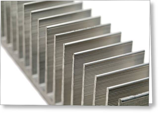 Amplifier Greeting Cards - Cooling fins Greeting Card by Science Photo Library