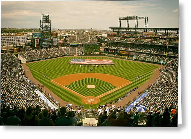 Coors Greeting Cards - Coors Field - Home of the Colorado Rockies Greeting Card by Mountain Dreams