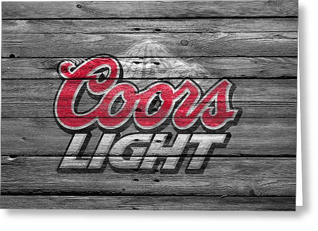 Hops Greeting Cards - Coors Light Greeting Card by Joe Hamilton