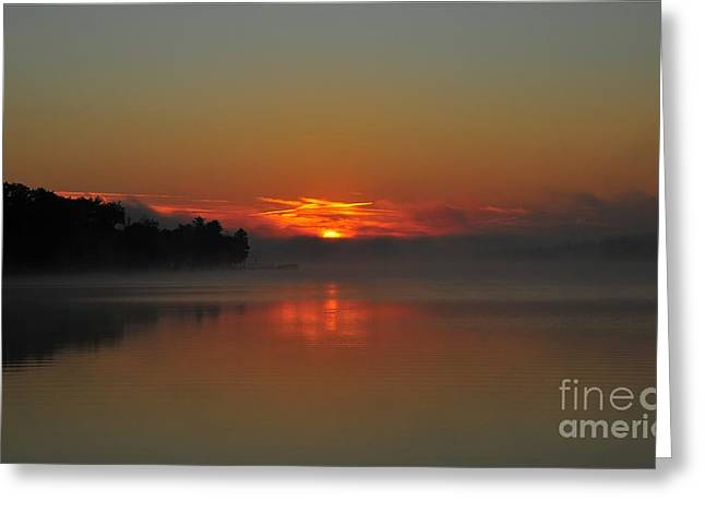 Twilight Greeting Cards - Copper Dawn Greeting Card by Terri Gostola