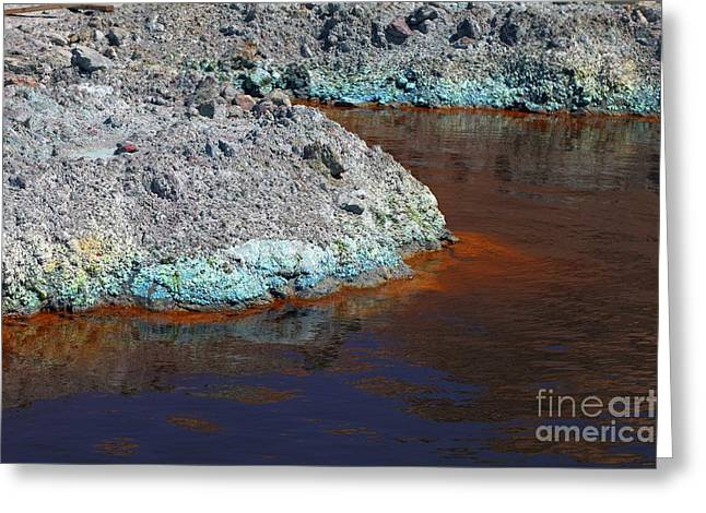 Leach Greeting Cards - Copper Mine Collecting Pond Greeting Card by Dirk Wiersma