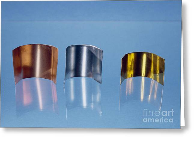 Copper, Zinc And Brass Greeting Card by Andrew Lambert Photography