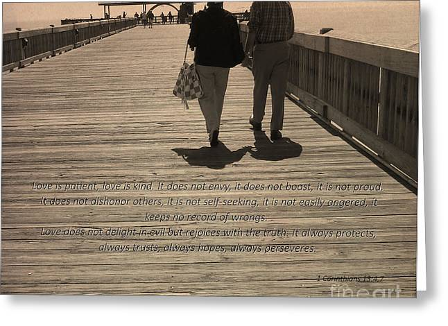 Pleasure Pair Greeting Cards - 1 Corinthians 13 Greeting Card by Andrea Anderegg