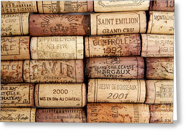 Wine Tasting Greeting Cards - Corks Greeting Card by Bernard Jaubert