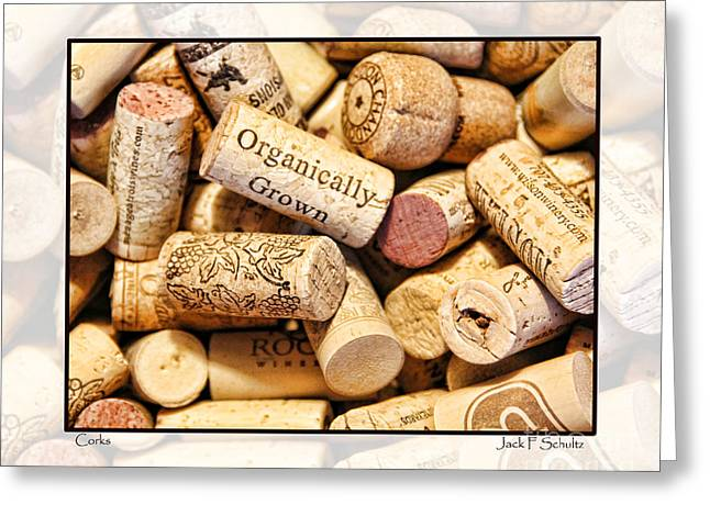 Organically Greeting Cards - Corks Greeting Card by Jack Schultz