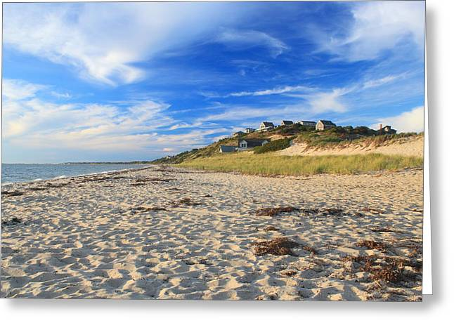 Cape Cod Bay Greeting Cards - Corn Hill Beach Truro Cape Cod Greeting Card by John Burk