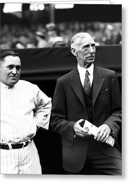 Mccarthy Greeting Cards - Cornelius Connie Mack Greeting Card by Retro Images Archive