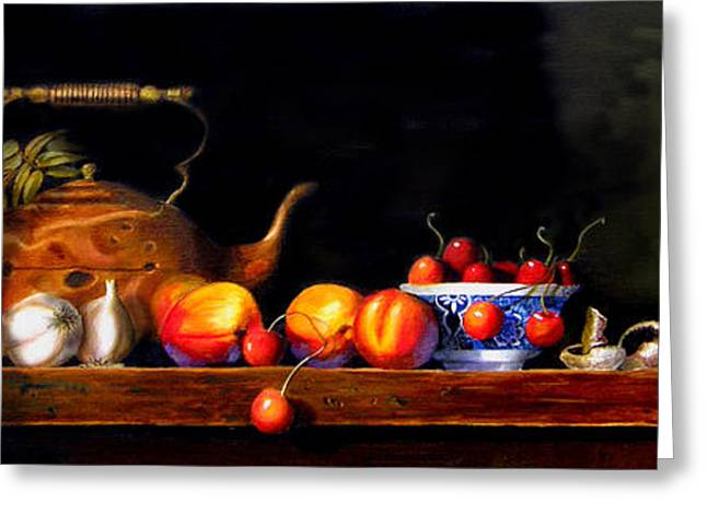 Tabletop Greeting Cards - Cornucopia 2 Greeting Card by Barry Williamson