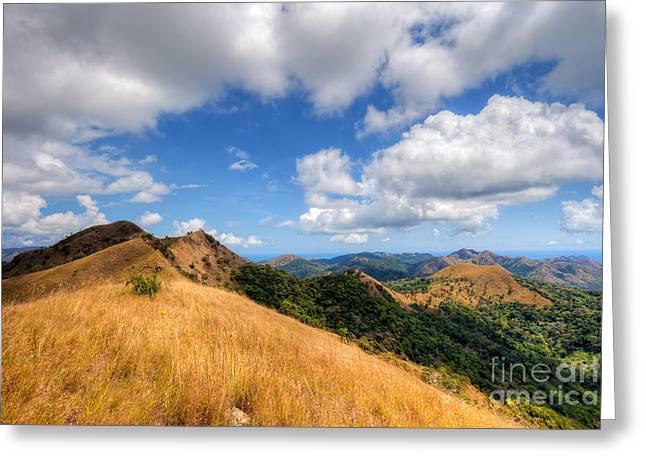 Palawan Greeting Cards - Coron island landscape Greeting Card by Fototrav Print