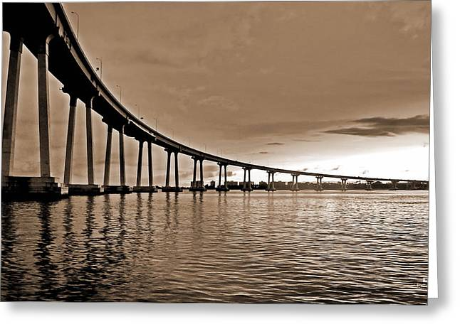 Coronado Bay Bridge Greeting Card by Russ Harris