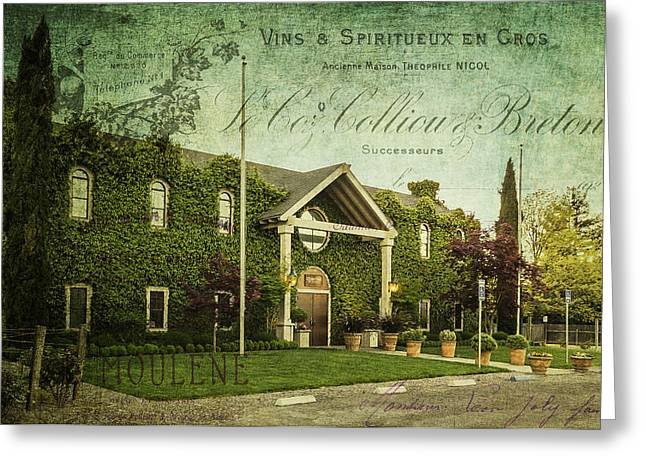 Vintner Greeting Cards - Cosentino Winery Greeting Card by Karen Stephenson