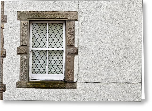 Frame House Greeting Cards - Cottage window Greeting Card by Tom Gowanlock