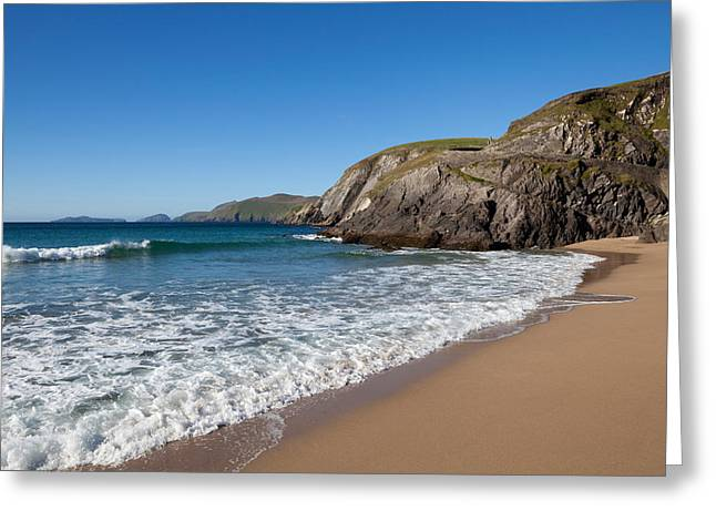 Sandy Beaches Greeting Cards - Coumeenoole Beach Slea Head Dingle Greeting Card by Panoramic Images