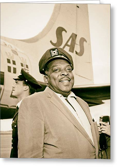 1950s Music Photographs Greeting Cards - Count Basie 1950s Greeting Card by Mountain Dreams