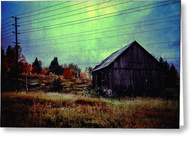 Barn Digital Greeting Cards - Country Blue Greeting Card by Natasha Marco