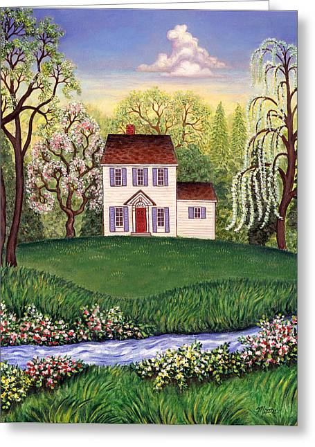 Top Seller Greeting Cards - Country Home Greeting Card by Linda Mears
