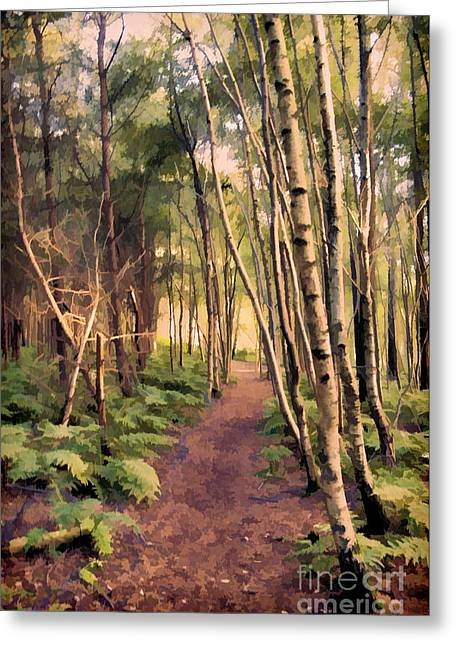 Country Lanes Digital Art Greeting Cards - Country Lane Greeting Card by Amanda And Christopher Elwell