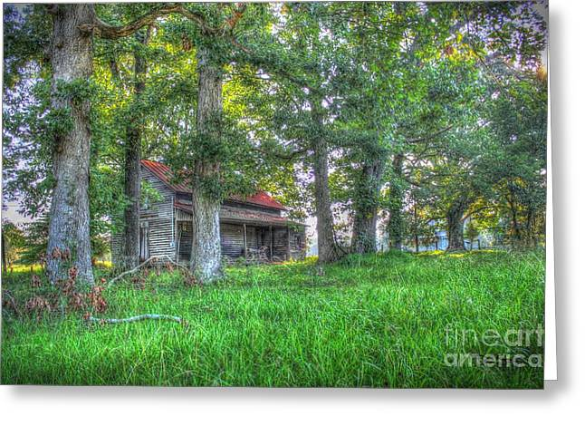 Shed Digital Art Greeting Cards - Country Quiet Greeting Card by Dan Stone