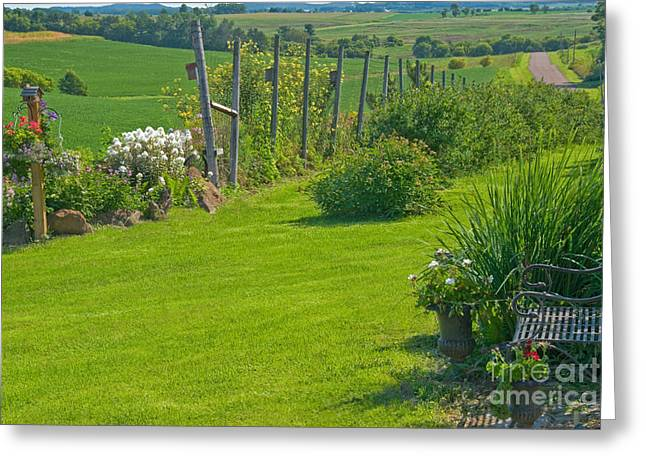 Trellis Greeting Cards - Country Scene Greeting Card by Richard and Ellen Thane