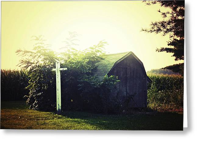 Barn Digital Greeting Cards - Country Warmth Greeting Card by Natasha Marco