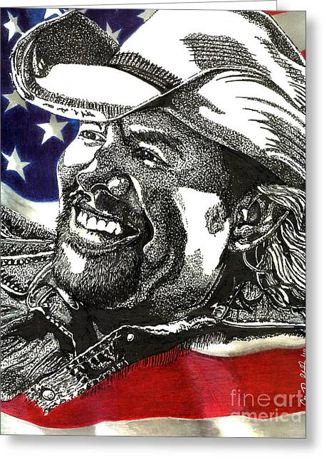 Toby Greeting Cards - Courtesy of The Red White and Blue Greeting Card by Cory Still