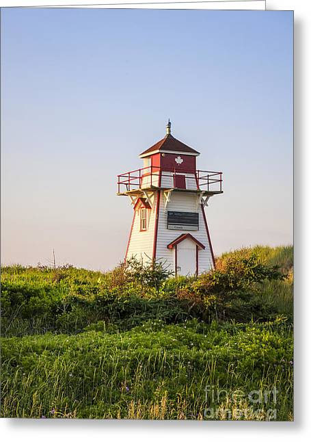 Coastal Lighthouses Greeting Cards - Covehead Harbour Lighthouse Greeting Card by Elena Elisseeva