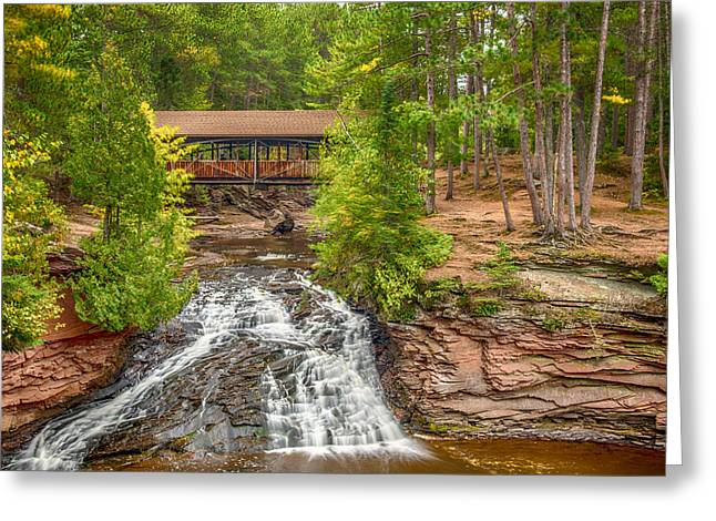 Covered Bridge Greeting Card by Paul Freidlund